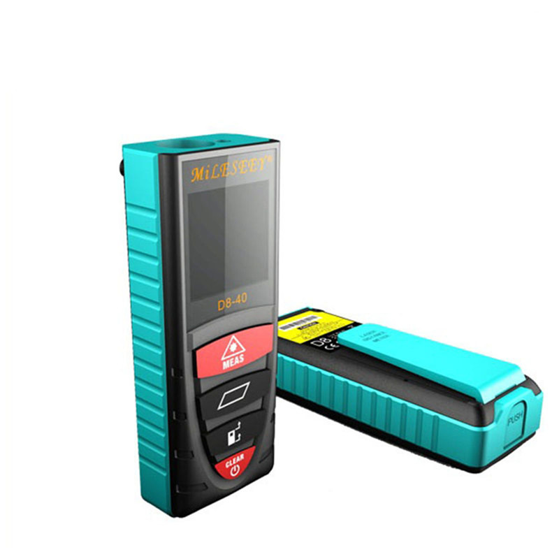 Mileseey laser distance meter D8 40m 60m 80m 100m laser distance measure blue Electronic Measurement Instruments laser meter