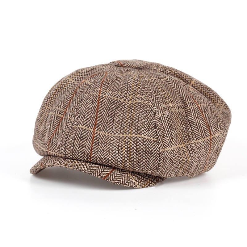 VORON 2017 new bakham masculino moda tampa octogonal cap jornaleiro cap  boina chapéu outono e inverno feminino em Tampas jornaleiro de Acessórios  de ... 676ad6c5334