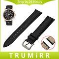 18mm 20mm 22mm liberação rápida cinta faixa de relógio de couro genuíno para mulheres dos homens de pulso citizen jacaré grain pulseira marrom preto