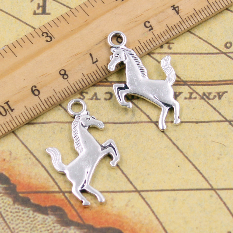 10pcs Charms gallop horse steed 35*21mm Tibetan Silver Plated Pendants Antique Jewelry Making DIY Handmade Craft