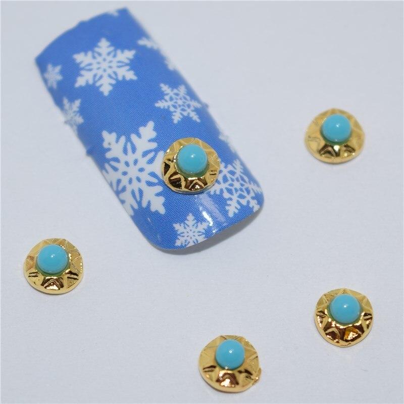 ツ)  ¯10psc New Peacock blue diamond 3D Nail Art Decorations a69c7f5f1fc0