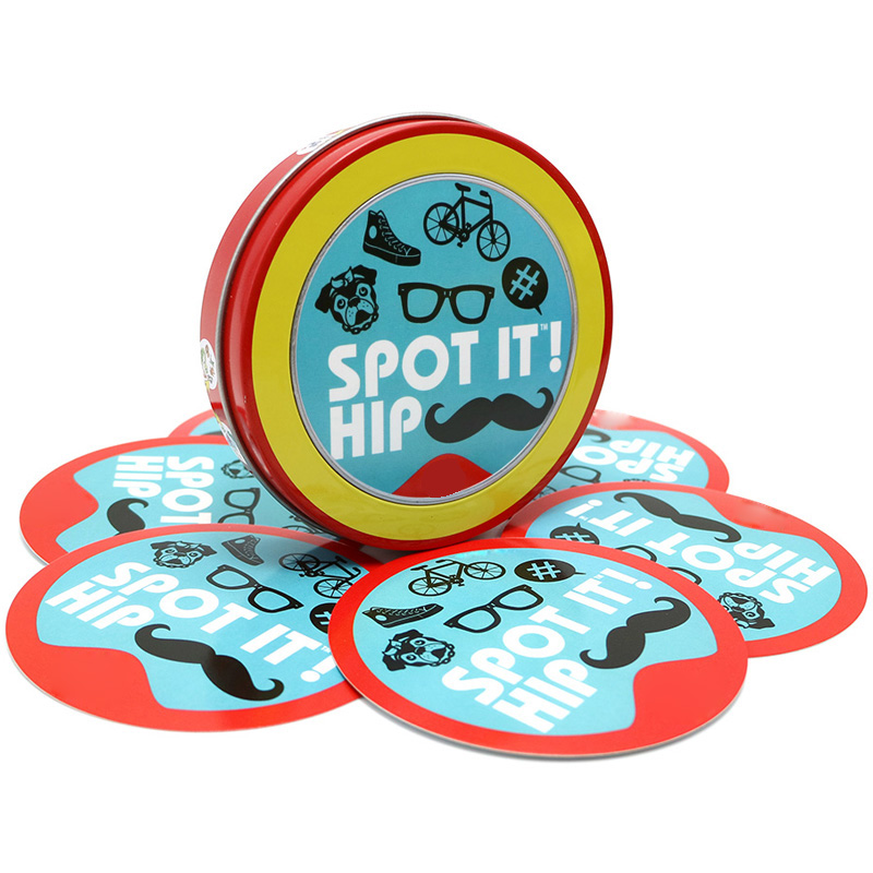 10 pcs/lot spot it hip for wholesale high quality paper for family fun cards game board game