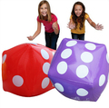Inflatable Dice Play Cube Party Favours Novelty Outdoor Garden Beach Toys(Green, Red, Blue, Purple, Yellow, Orange)