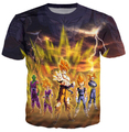 2015 New Dragon ball Z comic  goku Saiyan 3d  Cartoon t shirt summer style t shirt men/women camisa masculina plus size S-4XL