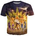 2015 New Dragon ball Z goku Saiyan comic Dos Desenhos Animados 3d t camisa estilo verão t camisa dos homens/mulheres camisa masculina plus size S-4XL