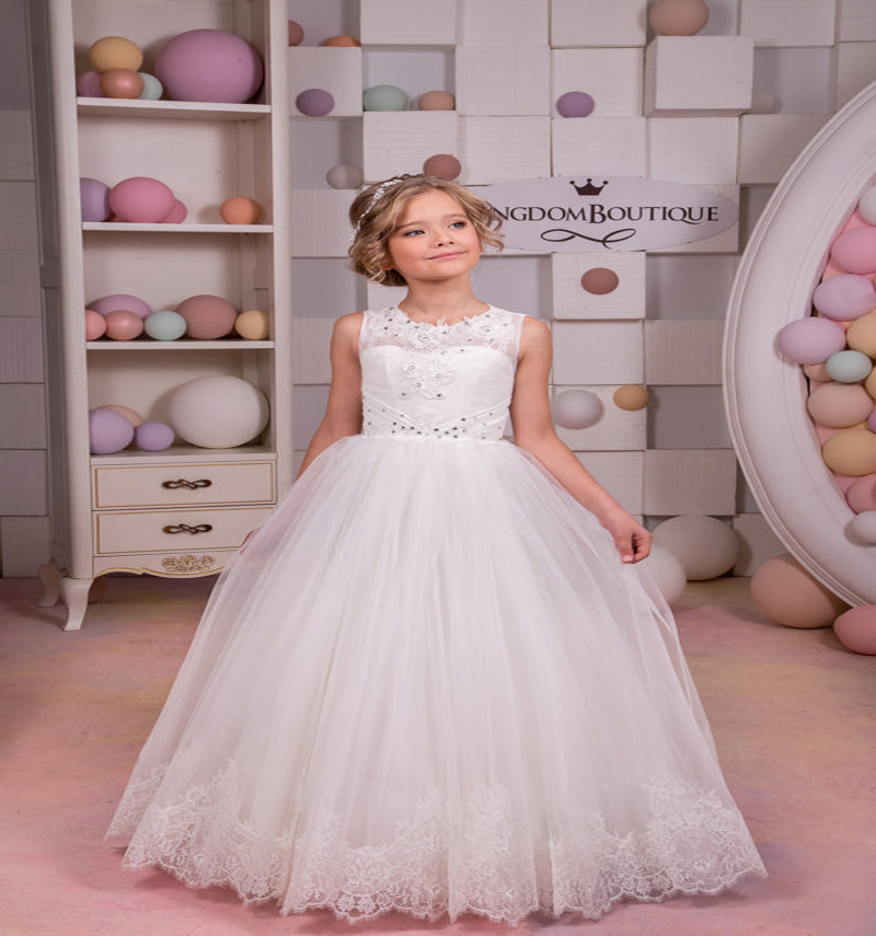 Lace Up Little Communion Dresses A-line Flower Girl Dresses 2-12 Years Old For Christmas Ankle-Length Mother Daughter Dresses the little old lady in saint tropez