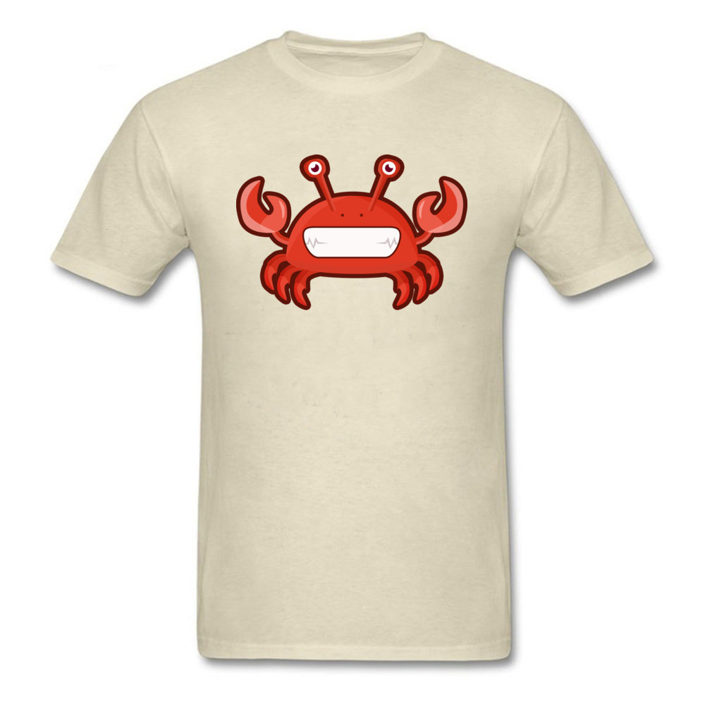 T Shirt Kawaii Crab Tops Shirt Summer Autumn 2018 Street Short Sleeve Pure Cotton Crewneck Men Tshirts Street Drop Shipping Kawaii Crab beige