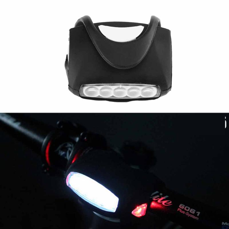 7 LED Silicone Bicycle Lights Head Front Rear Wheel LED Flash Lamp Light Safety Warning Mountain Front Cycling Flash Light Lamp