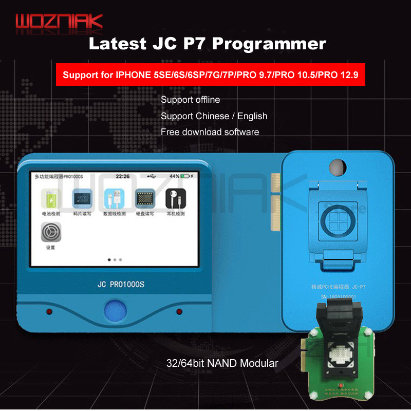 Wozniak JC Pro1000S JC P7 PCIE NAND Programmer 32/64 Bit HDD Read Write Module For IPhone 7 7P 6 6S 6P 6SP 5 4 8 8p X Xr Xs Max