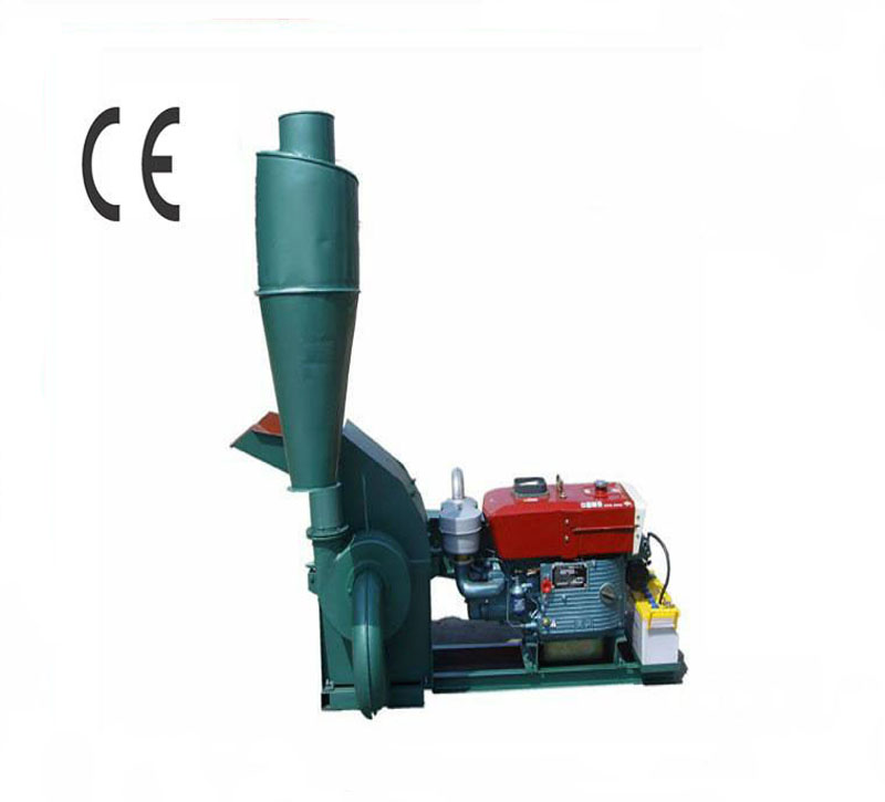 CF420A 15HP Electric - Start Diesel Engine Hammer Mill Animal Feed Hammer Mill With Cyclone
