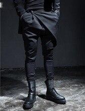 2016 mode Harajuku männer Culottes Fracht Reißverschluss Casual Männer Hosen Polo Slim Fit Mann Hosen Jogger Pluderhosen Füße hosen