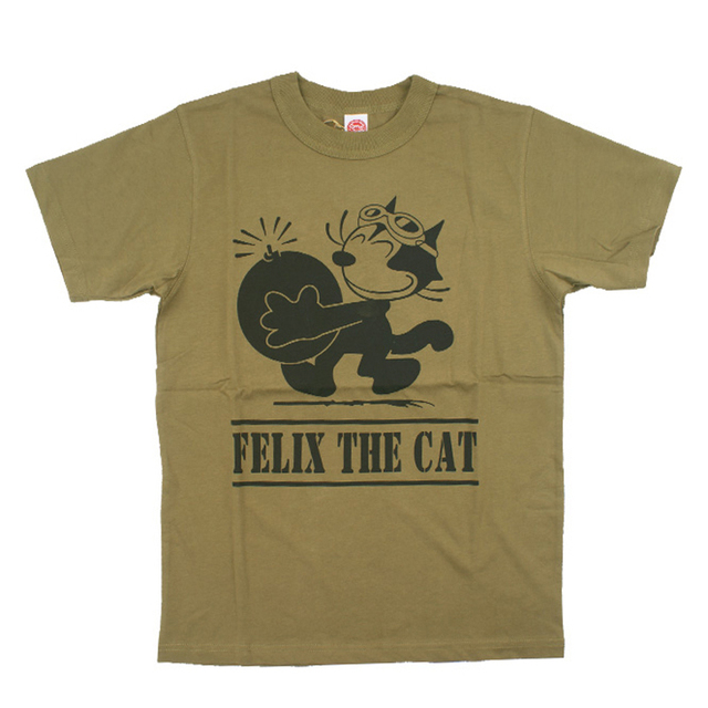 Vintage US Navy Felix The Cat Mens Tee Shirts Summer Bombcat Print Cartoon T-Shirt  Men Retro Military Style Short Sleeve Tee becf0e167b6