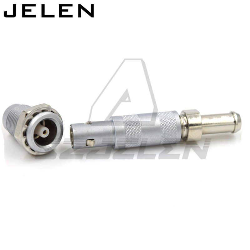 Metal Coaxial connector, 1 pin plug and receptacle,FFA.00.250/ERA.00.250