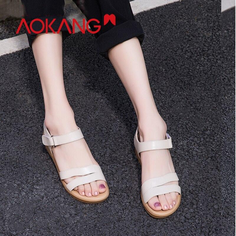 Analytisch Aokang Frauen Sandalen Hausschuhe Flip-flops Damen Flache Blumen Laufsohle Einfache Sandstrand Schuhe Chaussures Femme Plattform Zapatos
