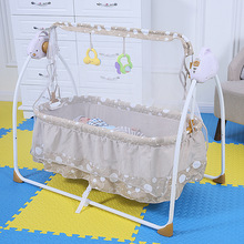 Fashion Electric Baby Crib Baby Cradle With Mosquito Nets Electric Baby Rocker Baby Swing Bed
