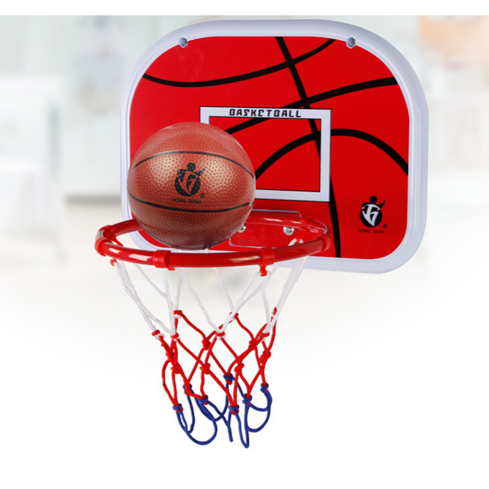 Indoor Hanging Basketball Hoop Basketball Box Mini Basketball Board For Children Kids Leisure Sports ...