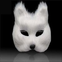 Máscaras de máscaras de animais adereços máscara de halloween cosplay raposa
