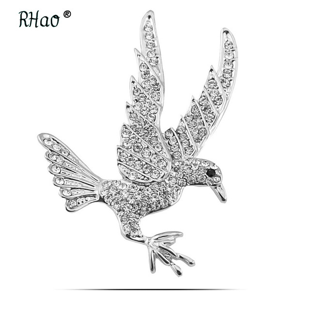 Rhao New Cute Little Pigeon Shape Brooch Symbol Of Peace Pigeon
