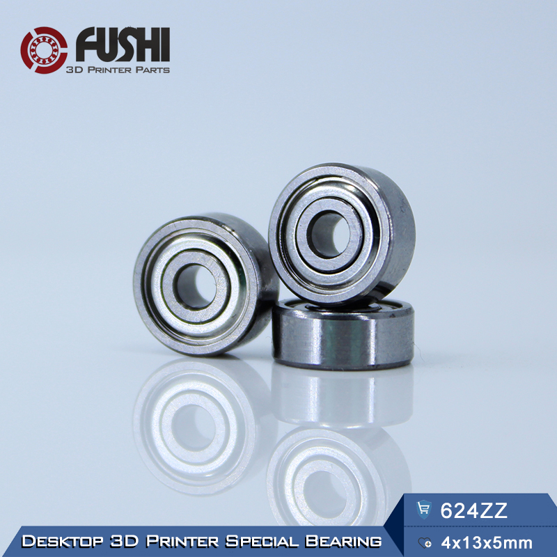 624ZZ Bearing ABEC-5 10PCS 4x13x5 mm Wire Cutting Machine Miniature 624-2Z Ball Bearings 624 ZZ EMQ Z3V3 Quality 683zz bearing abec 7 10pcs 3x7x3 mm miniature 683 zz ball bearings 618 3zz emq z3v3 high quality