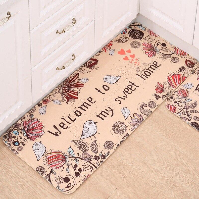 Online Shop 3pcs/set Floral Print Kitchen Carpet Rug Soft Flannel Anti Slip  Water Absorbing Bathroom Floor Mat 16 Designs | Aliexpress Mobile