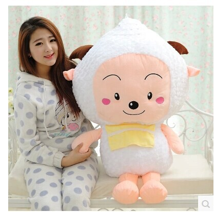 100cm lovely sheep plush toy Movie anime cartoon lazy goat doll throw pillow gift w5582 lovely giant panda about 70cm plush toy t shirt dress panda doll soft throw pillow christmas birthday gift x023