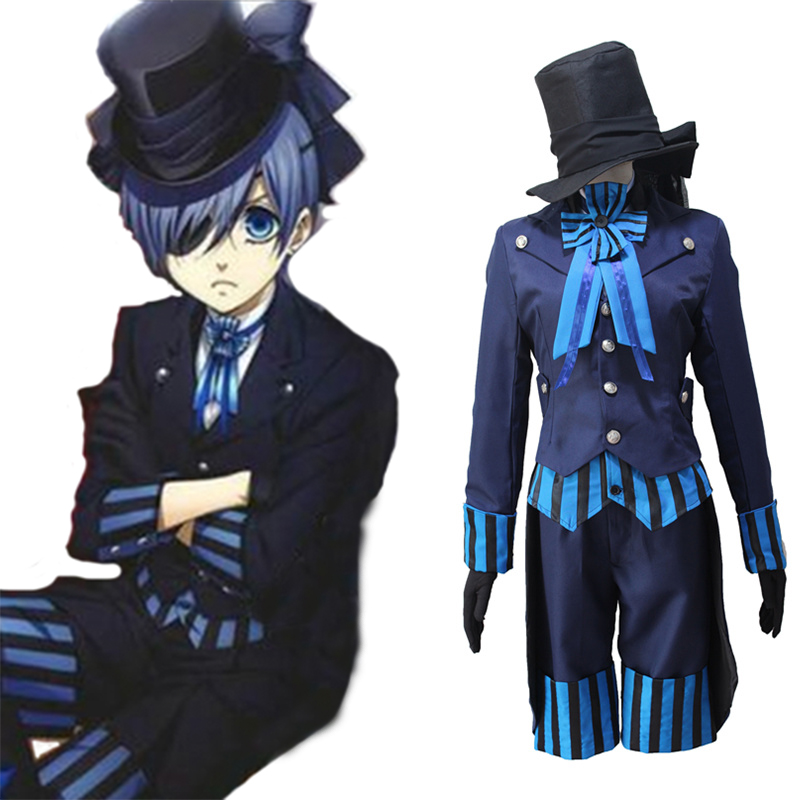 Kuroshitsuji Cosplay Costume Ciel Phantomhive Cosplay Costumes Black Deacon Uniform Outfit Anime Cosplay Costume Halloween Party