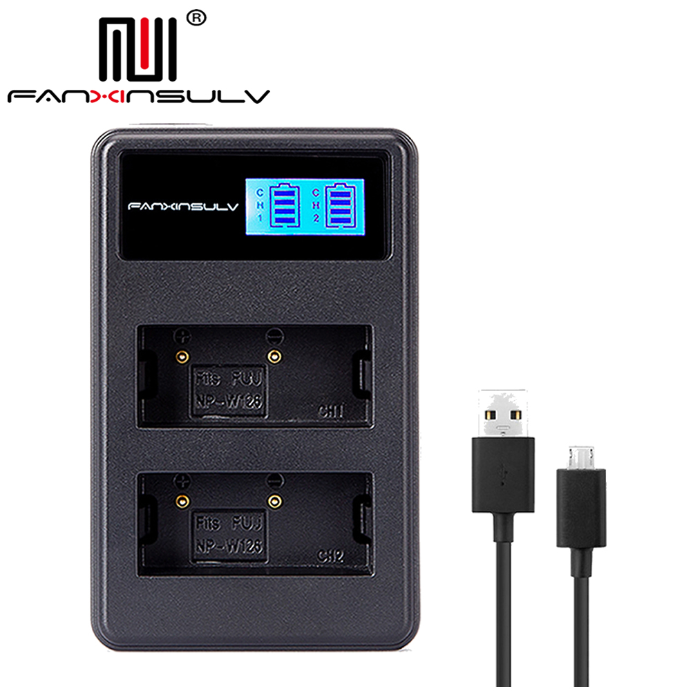 NP-W126 NP-W126S LCD USB Charger for Fujifil Fuji NP-W126S NP W126 Battery X-T3 XA5 XT20 XT2 XT1 XT100 XH1 XT10 XE3 X100F X-PRO2