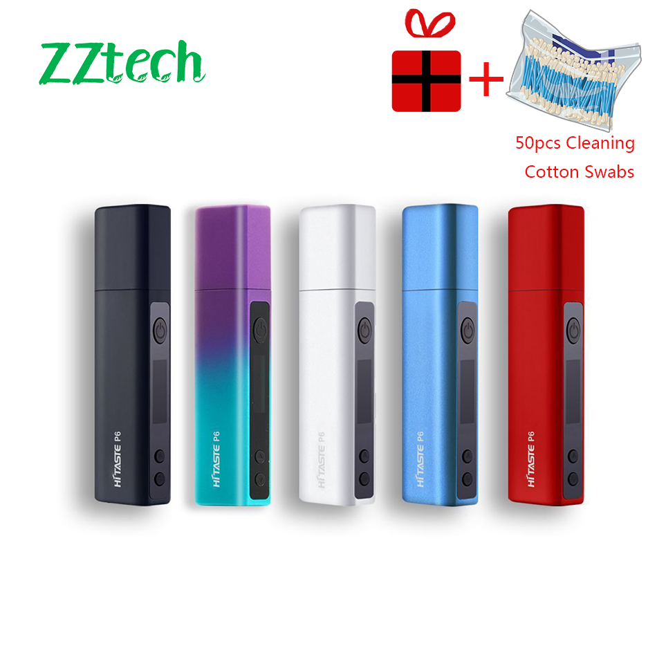 2019 New Original Not Fire Vape Pen Hitaste P6 Tobacco Heat Without Burn Vaporizer With 3000mah Vape Kit Electronic Cigarette