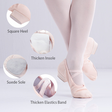 Ballet Teacher Shoes Low Heels Character Soft Sole Red Dancing For Women