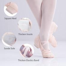 cd08091480 Professora de balé Sapatos Baixos Saltos Sapatos Caráter Suave Sole Red  Sapatos de Dança Para As