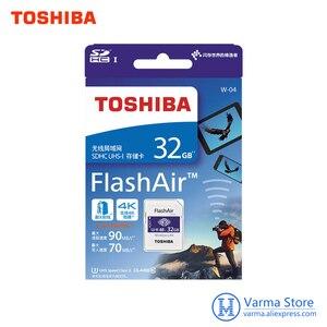 Image 3 - Toshiba wifi sd cartão de memória de alta velocidade slr câmera suporta 4 k sem fio wi fi cartão 32 gb