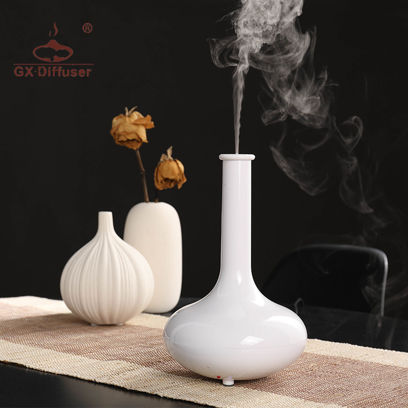 GX.Diffuser Portable Aromatherapy Ultrasonic Aroma Diffuser Air Humidifier LED Light Essential Oil Diffuser Mist Maker Fogger