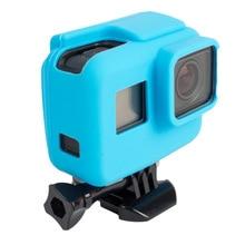 2000X لينة المطاط سيليكون الغلاف الواقي الحال بالنسبة GoPro بطل 6 5 كاميرا رياضية الجلد حالات Gopro بطل 5 غطاء Fundas كوكه