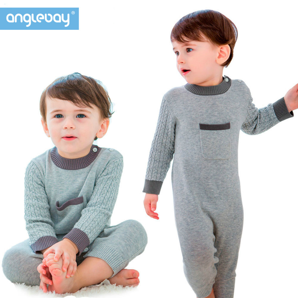 Anglebay 0~12months Baby Boys Girls Pullover Sweater One Piece Set Long Sleeve Boys-knitwear Winter One Piece Bodysuit Rompers mother nest 3sets lot wholesale autumn toddle girl long sleeve baby clothing one piece boys baby pajamas infant clothes rompers