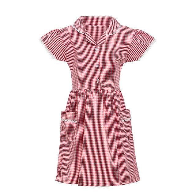 CHAMSGEND-robe princesse pour fille | En dentelle, à carreaux, poche à carreaux, tenue décole, 19MAY6 P35