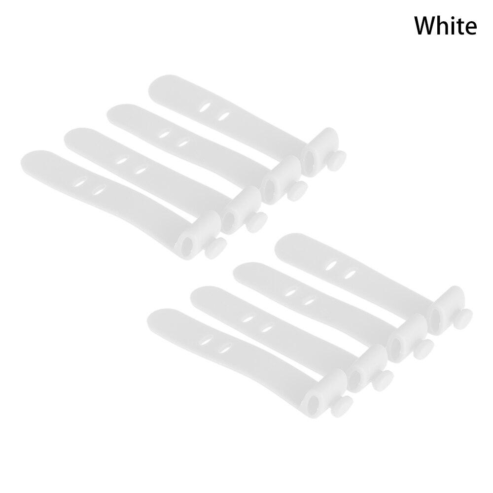 4 шт./лот, силиконовый органайзер, намотки, ремни, наушники, мягкая лента, USB провод, кабель, галстук, посуда, органайзер, держатель для хранения, зажимы для гарнитуры - Цвет: Белый