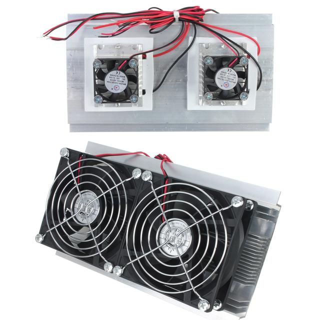 Kits del Sistema de Refrigeración TEC refrigerador Termoeléctrico Peltier Refrigeración Doble Ventilador D
