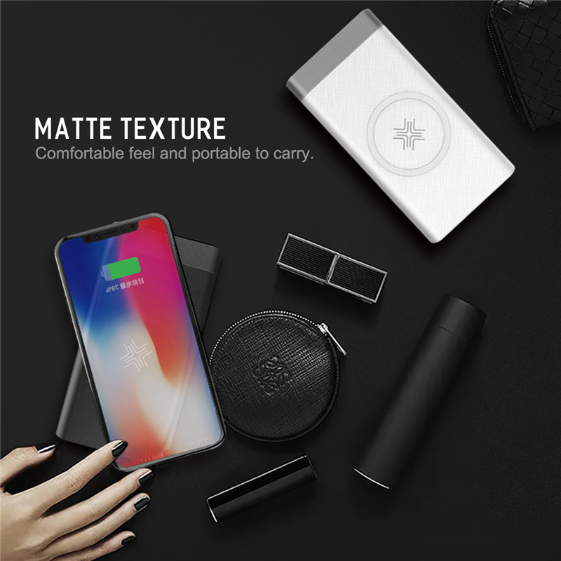 ROCK Power Bank 2 In 1 Qi Wireless Charger Universal Portable For Samsung S9 S8 Built-in Powerbank For IPhone X 8