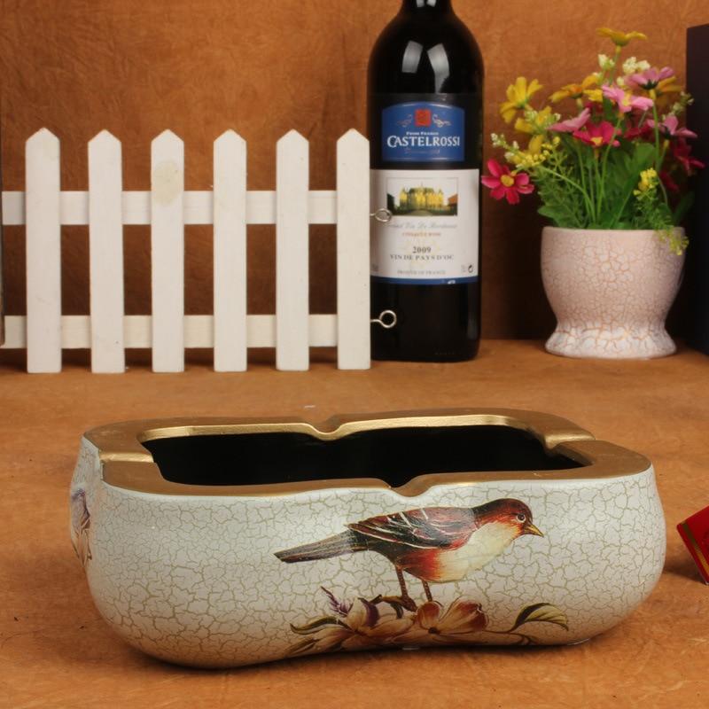 Wholesale Home Décor Fashion Accessories: Home Decor Living Room European Style Ceramic Ashtray Ashtray Crafts Decorative Gift