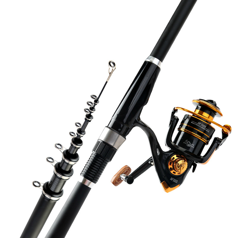 Superhard High Carbon Rock Fishing Rod Sea Stream Dual Purpose Ultra Light Portable Telescopic Fishing Power Hand Rod high quality ultra light portable high carbon cloth sea fishing rod dual use bait cast carp ice fishing rod