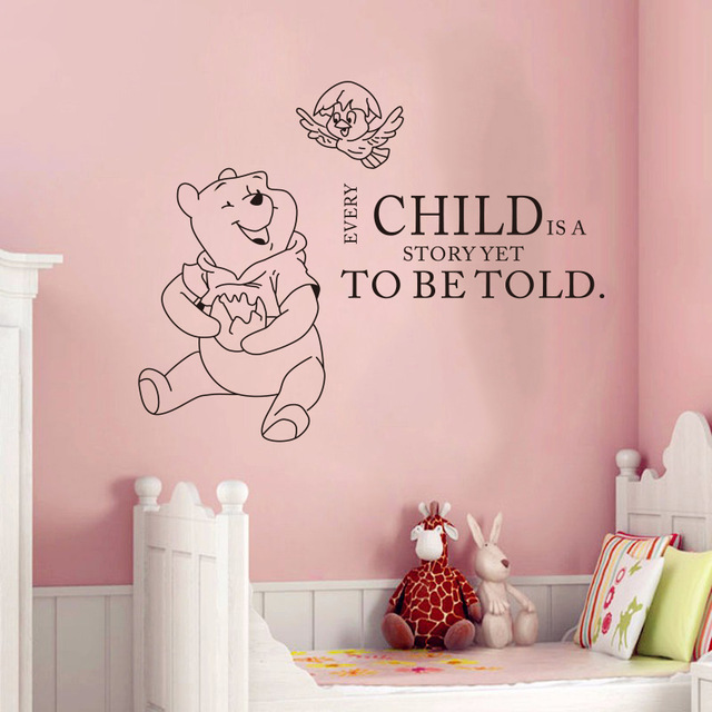 Wall Decals Quotes Winnie The Pooh Quote Vinyl Sticker Nursery Room Bedroom  Decal Baby Boy Girl Home Decor Art Murals In Wall Stickers From Home U0026  Garden On ...