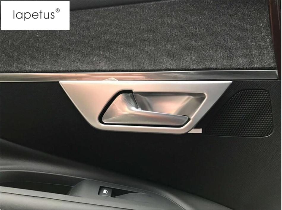 Lapetus Accessories For Peugeot 3008 3008GT 2017 2018 Car Inner Door Side Armrest Window Lift Button Molding Cover Kit Trim