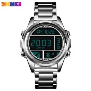 Роскошные спортивные мужские часы, водонепроницаемые цифровые часы с секундомером и будильником, электронные мужские наручные часы, топов...