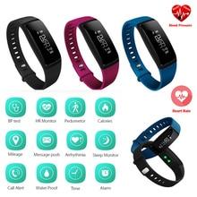 Oe bluetooth новый smart watch монитор артериального давления браслет спортивные часы шагомер мода женщин смарт браслет для ios android