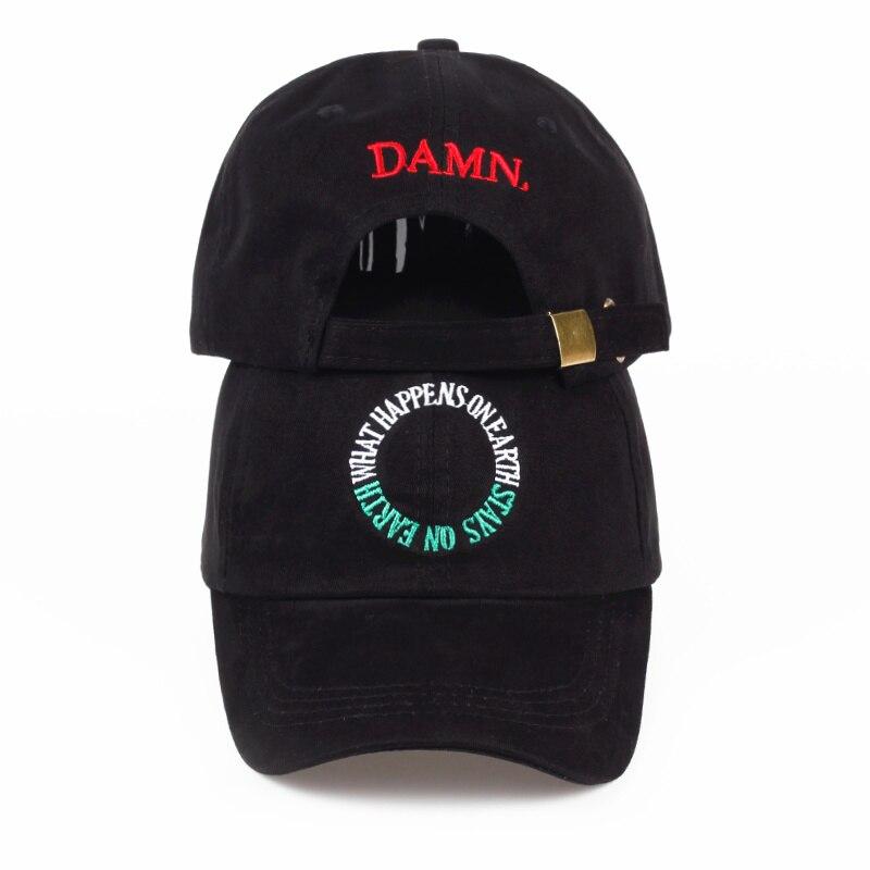 new 2017 wine red white black embroidery DAMN. dad hat bone women men the rapper   baseball     cap   hip hop male trucker gorras   caps