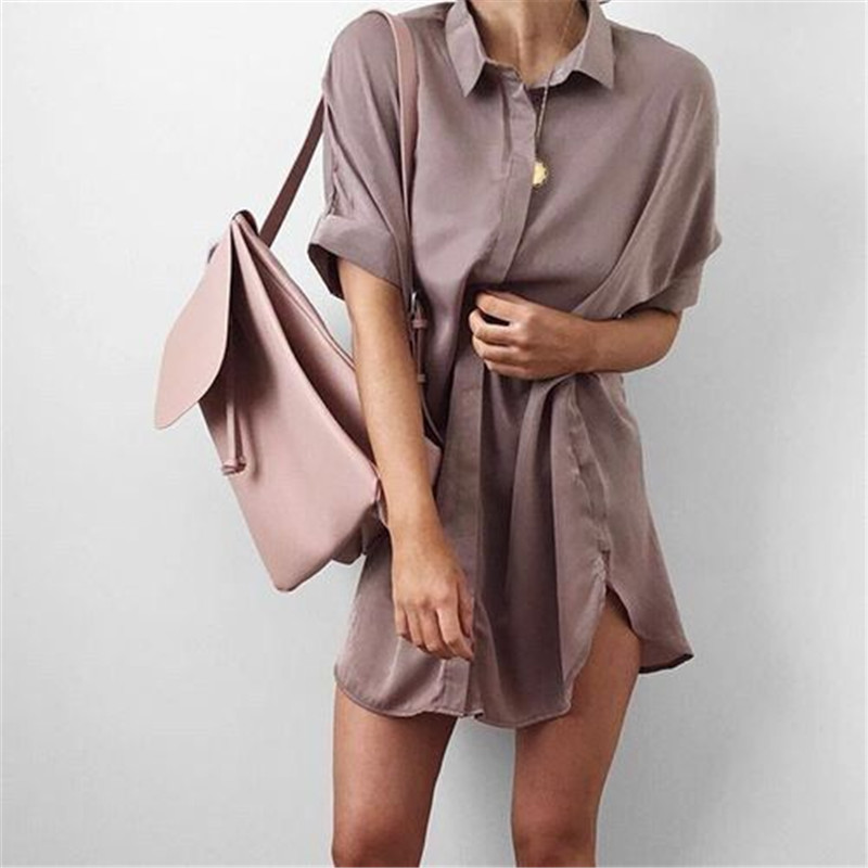 4-Colors-Short-Sleeve-Maternity-V-neck-chiffon-blouse-summer-fashion-casual-solid-Color-shirts-loose (4)