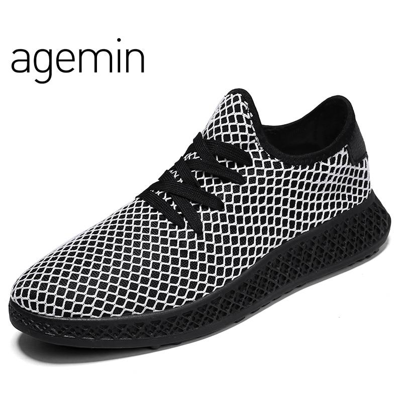 Agmin Sommer Breathable Mesh Schuhe Mens Casual Schuhe männliche - Herrenschuhe - Foto 4