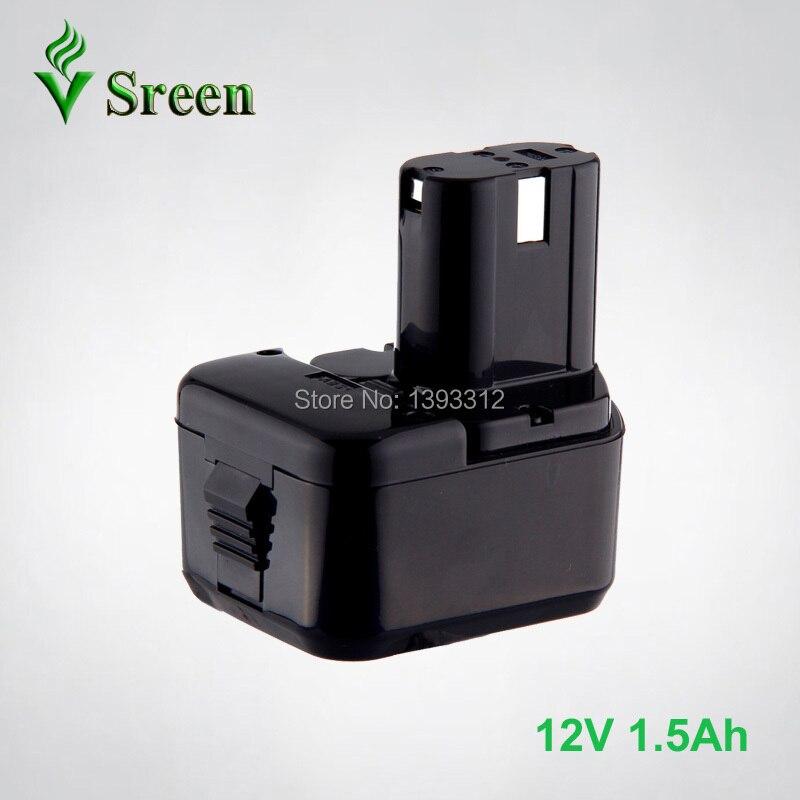 Sreen 12V NI-CD 1500mAh Power Tool Battery Packs Replacement for HITACHI Cordless Drill EB1212S EB1214S EB1220HL EB1230HL EB1233