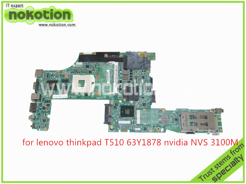 NOKOTION FRU 63Y1878 48.4CU06.031 Laptop motherboard For Lenovo thinkpad T510 QM57 Quadro NVS 3100M board Mainboard new original us english keyboard thinkpad edge e420 e420s e425 e320 e325 for lenovo laptop fru 63y0213 04w0800