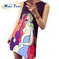 2016 Hot Sale Summer Sleeveless Maternity Dress Cartoon Pattern Casual Ultra Thin Ultra Light Cotton Dress For Pregnant Women